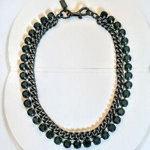 COACH Titanium Black Double Strand Necklace